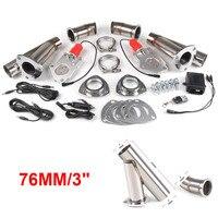 Y-Pipe Inoxidável ''polegadas Carro Elétrico Duplo Válvula De Controle De Exaustão kit Recorte Com Um Controle Remoto
