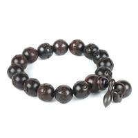 Prayer Beads Bracelets Om Mani Padme Hum Mantra Hand Carved Round Peach Wood Malas Tibetan Buddhist