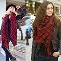 Street Fashion Colorido Lenços Xales Macios Coloridos Xadrez Sólida Cachecol Feminino Venda Melhor Qualidade Inverno xales