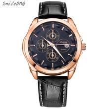 SmileOMG Hot Marketing New Casual Men Fashion Leather Analog Stainless Steel Quartz Wrist Watch Free Shiping ,Sep 28