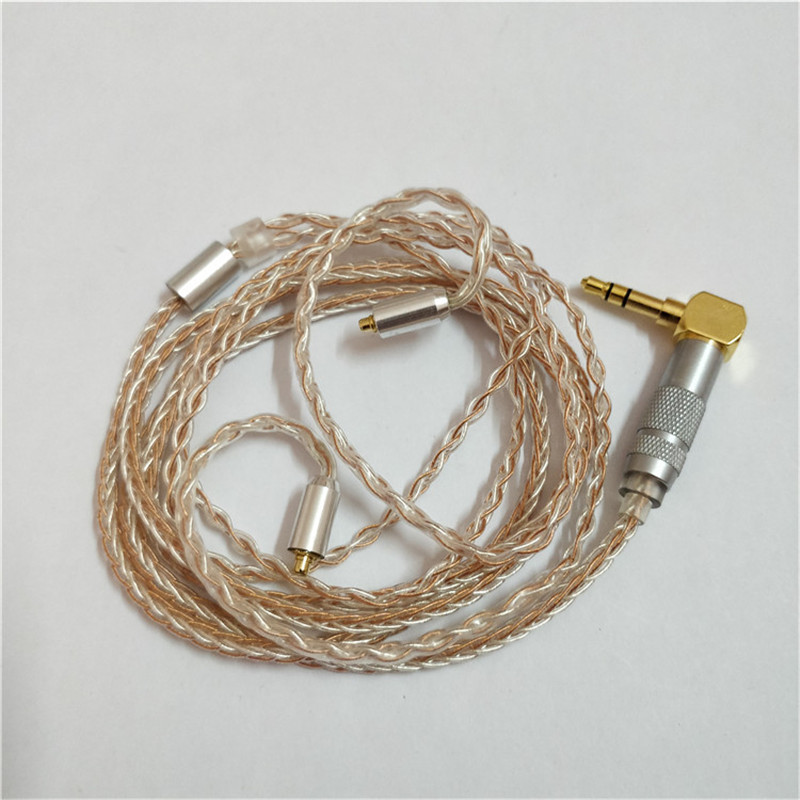 Earphone Cable MMCX 8 core Silver and Copper Mixed Earphone Upgrade Cable Replacement For Shure SE535 Headphone Wire