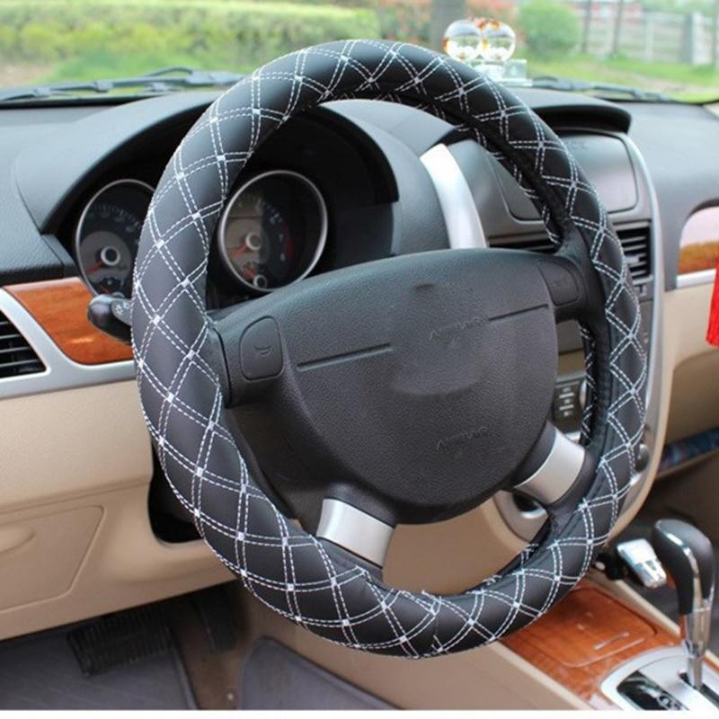 KKYSYELVA Κόκκινο Δερμάτινο τιμόνι - Αξεσουάρ εσωτερικού αυτοκινήτου - Φωτογραφία 2