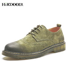 2018 Men Bullock Flat Casual Lace Up Leather Vintage Shoes Mens Martin Classic Comfortable