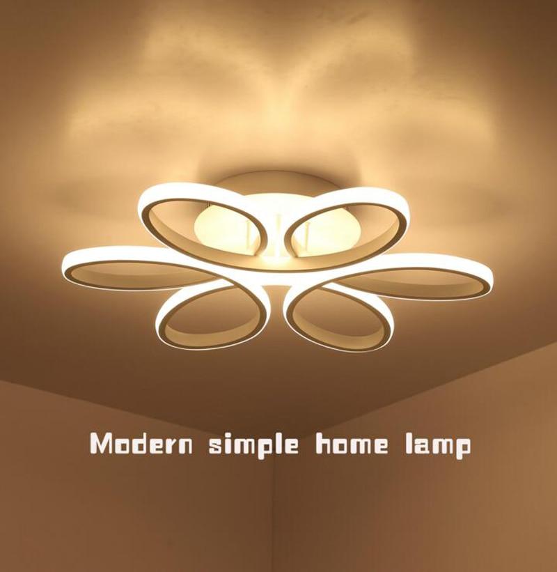 Простой творческий круговой подвесной светильник лампа Белый филиал акрил Новинка освещение с светодиодный лампы Спальня ресторан освеще