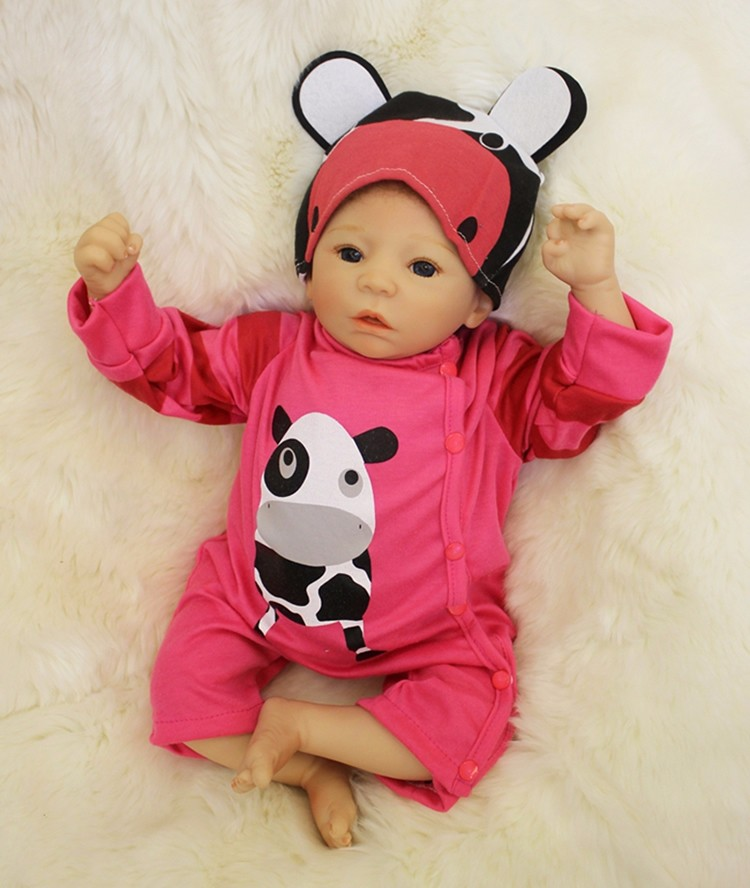 KEIUMI 50 cm Babys Junge Echt Wie Schlaf Reborn Baby Puppen 20 ''Weiche Silikon Körper Lebensechte Babys Puppe Für kinder Playmate Geschenk-in Puppen aus Spielzeug und Hobbys bei  Gruppe 1