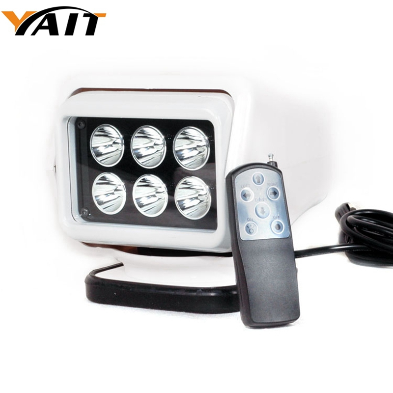 Yait IP67 10-30V Remote control LED Searchlight 7inch 30W Spotlight LED Work Light TRUCK SUV BOAT MARINE driving light