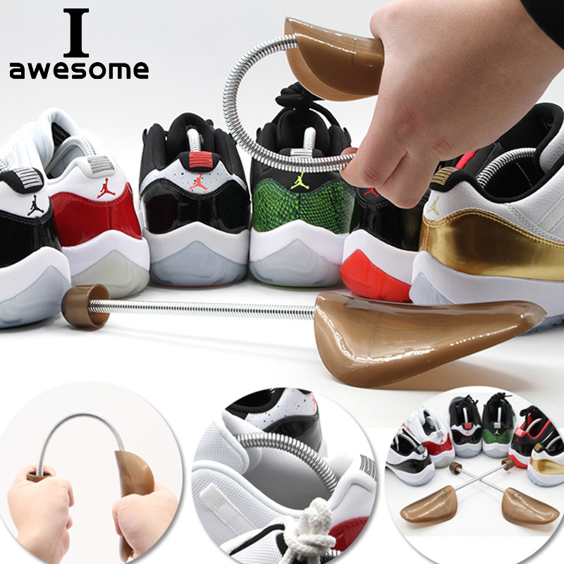 Automatic Adjustment Shoes Stretcher Shaper Spring Shoe Trees Support To Prevent Deformation Preventing Wrinkle Crease Plastic