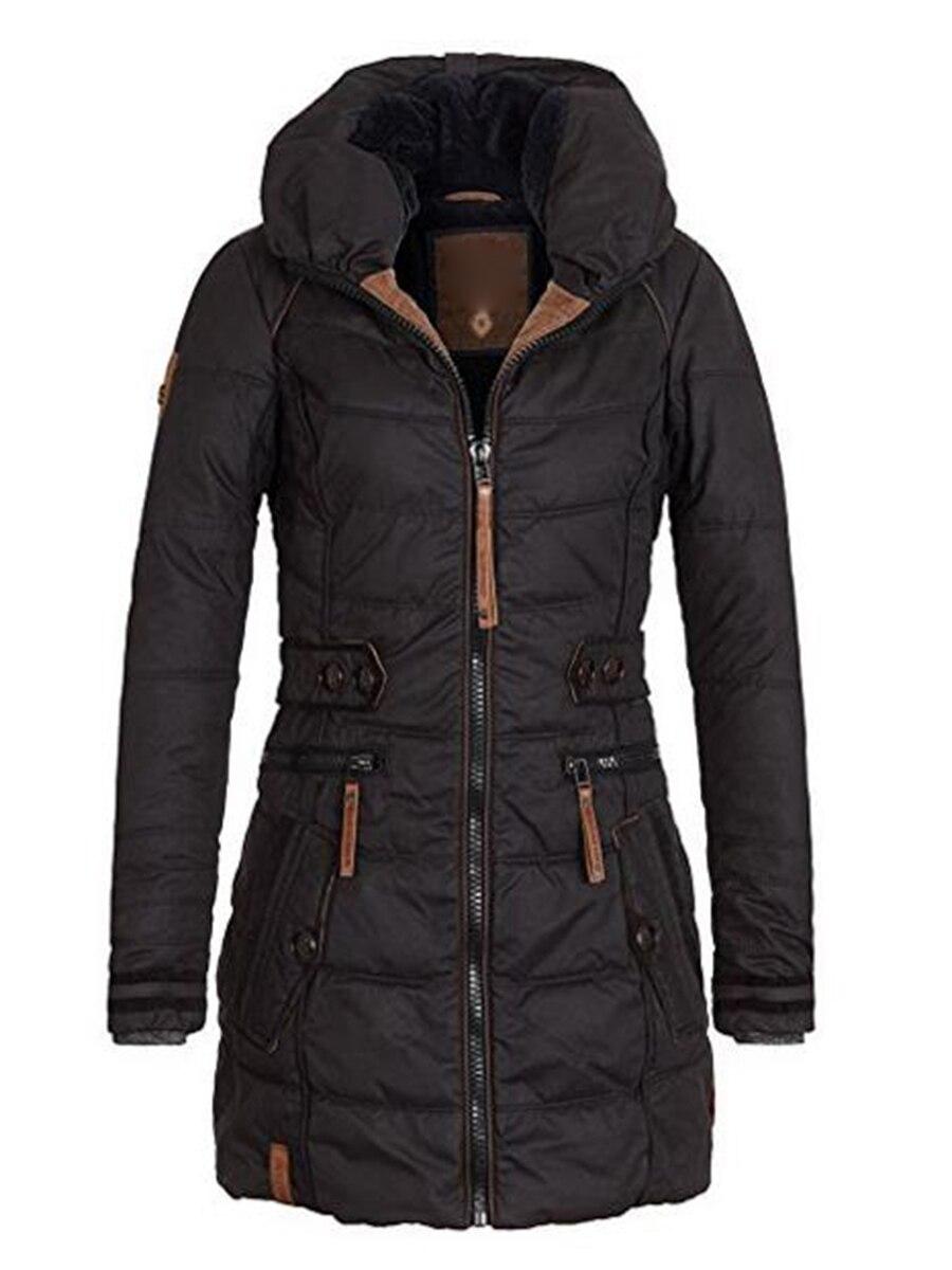 2018 chaqueta de invierno para mujer talla grande Parkas gruesas prendas de abrigo sólido con capucha abrigos cortos de algodón ajustado femenino acolchado tops básicos