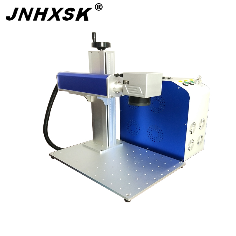 JNHXSK Split Type Mini Portable <font><b>Laser</b></font> Engraver Machine <font><b>cnc</b></font> router <font><b>20w</b></font> Fiber <font><b>Laser</b></font> Marking Machine for metal bar-code nameplate image