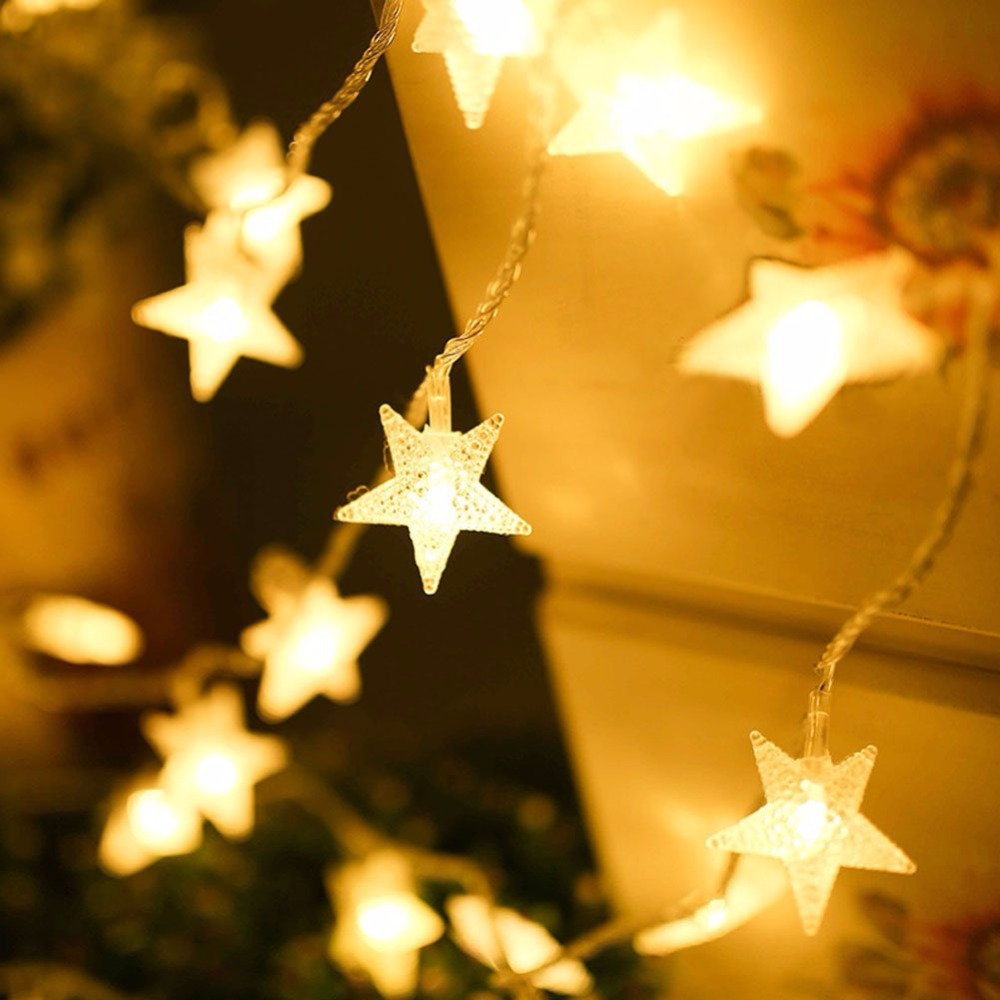 fairy lights stars battery operated string lights 5m 50 led decorative lighting for home wedding birthday indoor outdoor use - Decorative String Lights