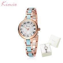 Сукня жіночі кварцові наручні годинники жіночого одягу Kimio Ladies жіночі  годинники браслета Водонепроникн.. cb49c459b851a