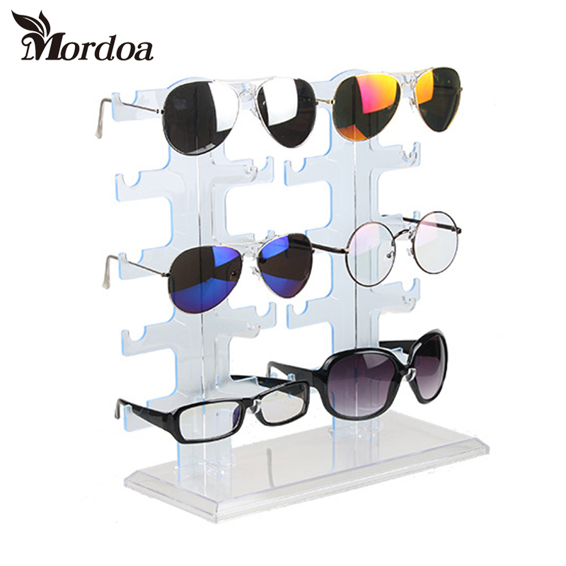 2017 New 1pcs 5 Layers Simple Convenient Plastic Glasses Eyeglasses Sunglasses Show Stand Holder Fashion Frame Display Rack