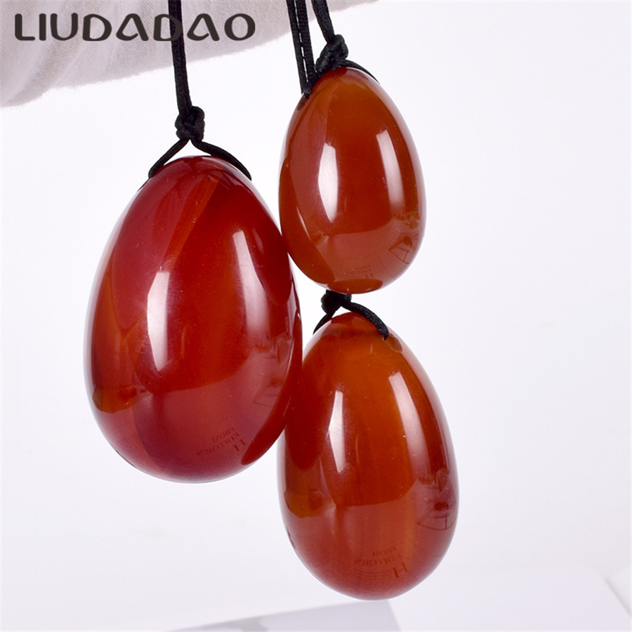 LIUDADAO Carnelian Yoni Eggs For Women Kegel Exercise Vaginal Muscles Health Care Massager Relaxation Natural Stone Wands BeadsLIUDADAO Carnelian Yoni Eggs For Women Kegel Exercise Vaginal Muscles Health Care Massager Relaxation Natural Stone Wands Beads