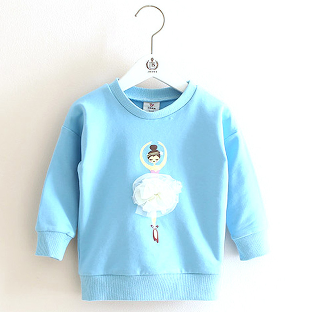 2016 Spring Fall Girls Sweatshirts for 2-9 Years Baby Girls Clothes Casual Girls Pullover Hoodies Children Tops PT44-6