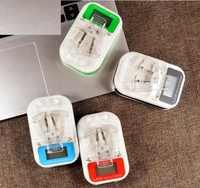 50 unids/lote LCD UE/EE. UU. enchufe Universal de viaje LCD teléfono celular cargador de batería teléfono móvil viaje USB cargador de pared cargadores de escritorio
