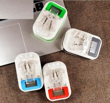 50pcs/lot LCD EU/US Plug Universal Travel cell phone Battery Charger mobile USB Wall desktop chargers