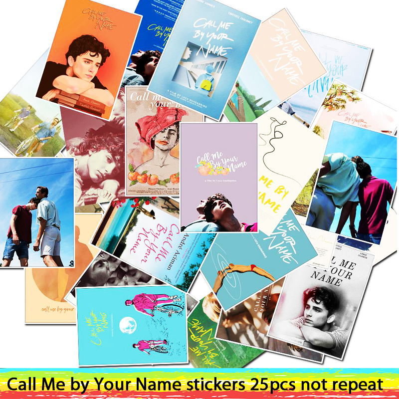 25pcs Call Me By Your Name Old Movie Stickers For Luggage Laptop Art Painting DIY Poster Stickers Waterproof Skateboard Toy