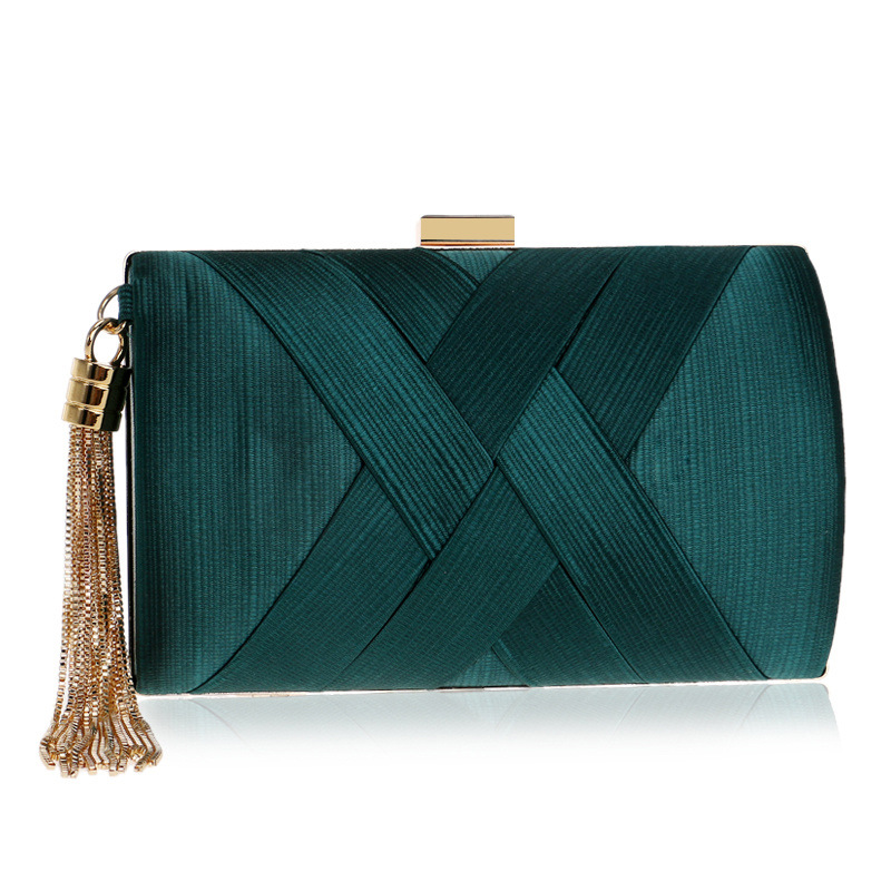 Doragrace Fashion Women Bag Tassel Metal Small Day Clutch Purse Handbags Chain Shoulder Lady Evening Bags Phone Key Pocket Bags