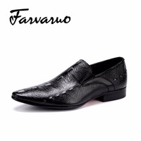 FarvarwoMen S Wedding Dress Shoes Mens Casual Leather Oxfords Shoes Crocodile Point Toe Bussiness Brogues Moccasin
