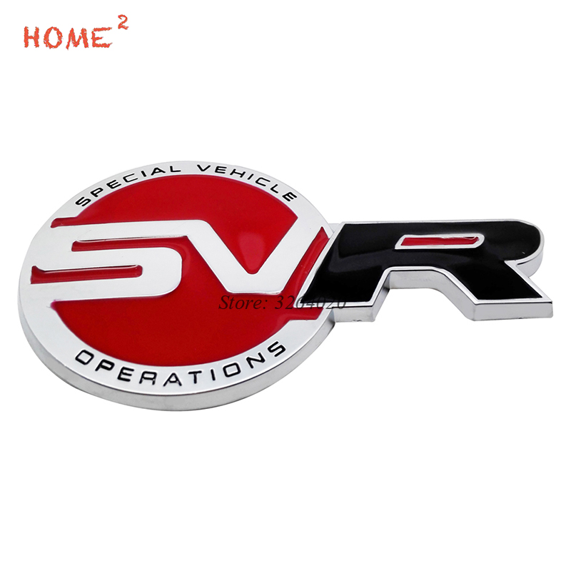 Car Accessories Badge Stickers Auto Metal Emblem Decals for SVR Logo for Land Rover Range Rover Defender Freelander Discovery