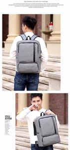 Image 4 - Multifunctional USB charging 15 Inch Backpack Waterproof Laptop Nylon Casual Business Leisure Travel Computer Bag anti thief