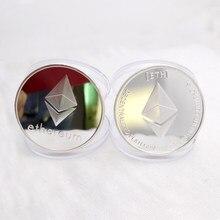 Позолоченная монета Ethereum, памятная монета, коллекция Litecoin Art, подарок, физическая антикварная имитация, домашнее украшение AUG27