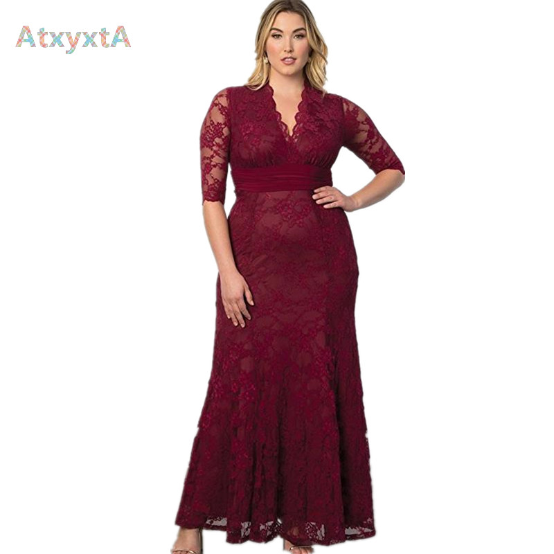 Women Big Large Plus Size Elegant Sexy Evening Maxi Long