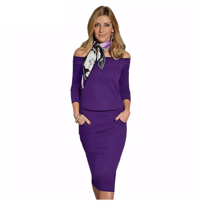 ộ_ộ ༽Iricheraf sexy Vestidos caliente manga larga de hombro vestido ...
