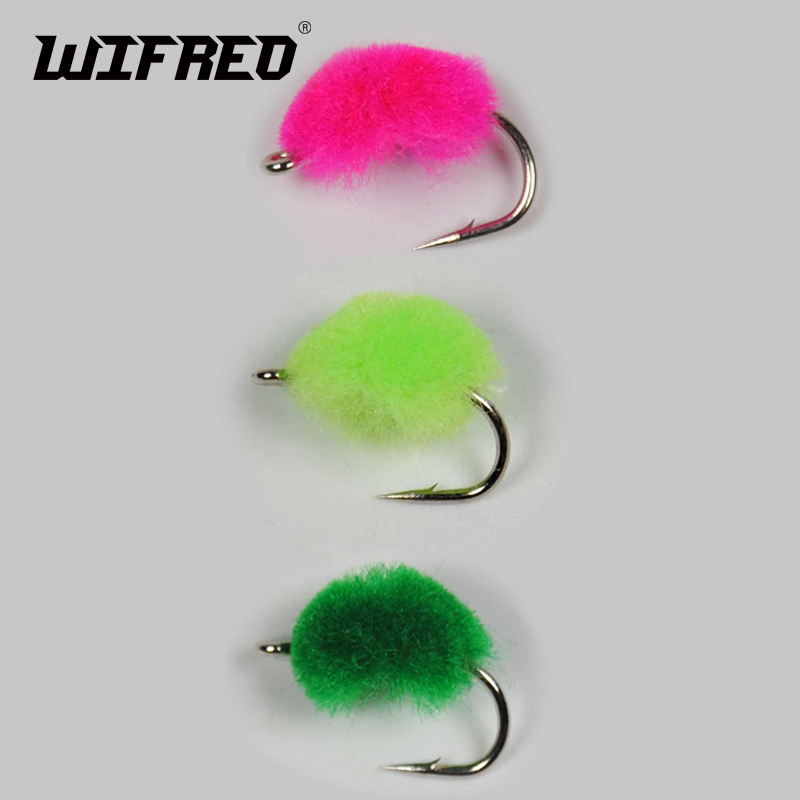1Box #12 Glo Bug Egg Fly for Trout Salmon Fishing Box Mixed Colors with 10 Hooks