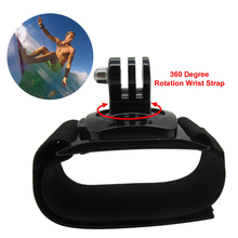 360 Degree Rotation Go Pro Wrist Hand Strap Band Mount for Gopro Hero 3 3+ 4 Xiaomi Yi xiomi go pro SJ4000 Go pro Accessories