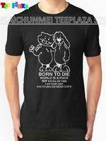 Teeplaza Grappige Shirts Grappig Crew Neck Geboren Te Sterven Korte Mouwen T-shirt Voor Mannen