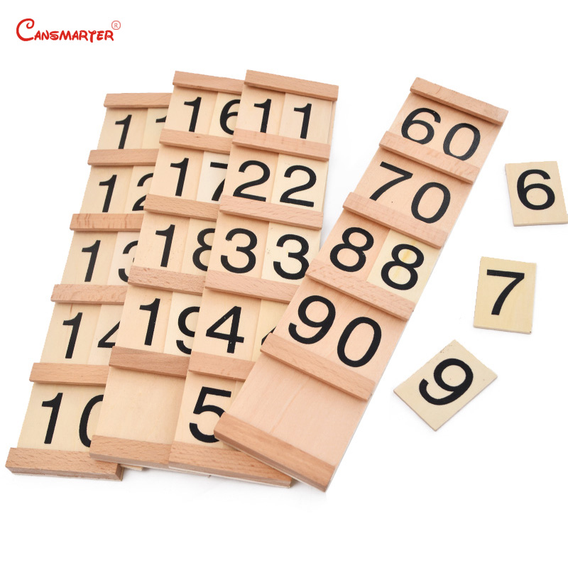 Math Toys Montessori Seguin Board Wood Material  Friendly Child Sensory Number Teach Aids Learning Math Toys Puzzles MA015-56