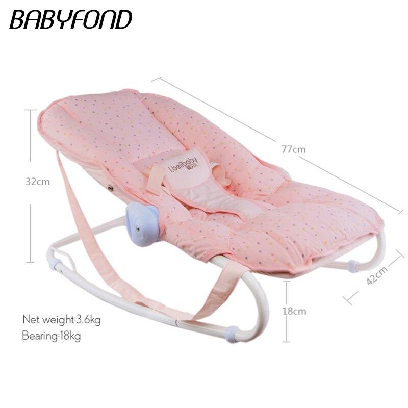 2019 vente directe haut à la mode en métal multi-fonctionnel bébé chaise berçante berceau nouveau-né cadeau bébé lit - 6