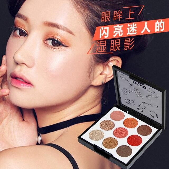 3 Pcs 9 Color Matte Wet Eyeshadow Palette Portable Makeup Cosmetics