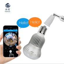 EC9D Panoramic 360 VR 960P 1.3MP HD IP Camera Smart LED Lights Cam Starlight night vision Bulb Home Security Camera