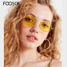 FOOSCK Fashion Classic Luxury Designer Brand Women Round Sunglasses