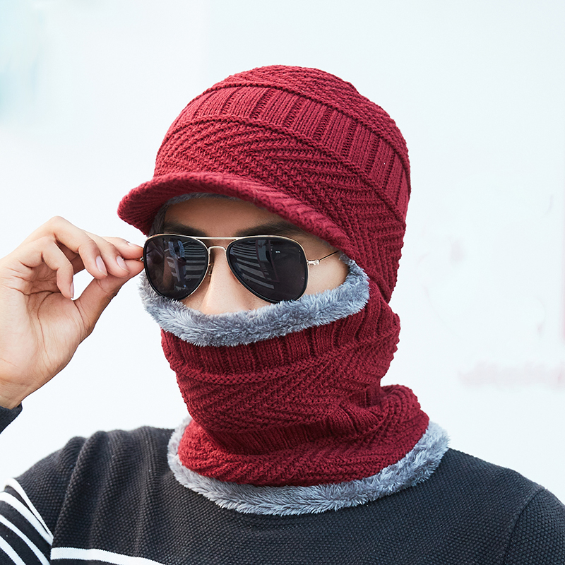 Winter Hats For Men Women Knitted Beanie Ear Protection Gorro Mask Balaclava Skullies Beanies For Men Warm Soft Fur Bonnet