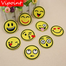 VIPOINT embroidery face patches smile badges applique for clothing XW-72