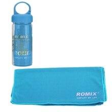 Romix led腕章用スポーツ超薄型5.5インチ電話ケース+ RH24クールタオル90*30センチアイスクールタオル用ランニングcycing