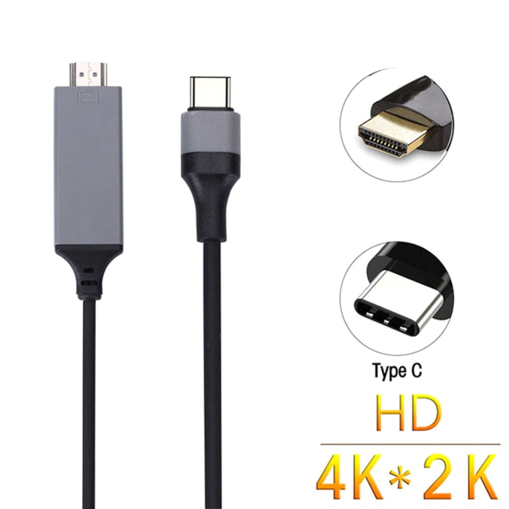 2M 4K USB 3.1 Type-C to HDTV <font><b>HDMI</b></font> AV Adapter Cable for Smart <font><b>Phone</b></font> Laptop PC