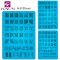 Wholesales 4PCS/LOT NEW A-T Series XL Medium Size  Stamp nail art Stamping Image Plate Print Nail Art Large BIG Template DIY