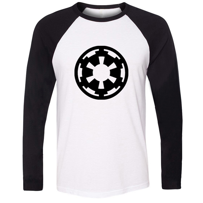 Star Wars Aging Galactic Empire Emblem Licensed Long Sleeve T Shirt Men Cosplay Family Graphic Tee Shirts Boy Patchwork Tops image