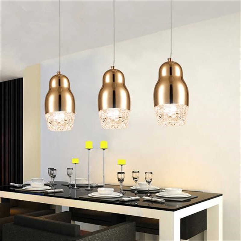 1 head Postmodern Simple restaurant chandelier bedroom Bar clothing store Cafe Creative personality crystal Lamp Free Shipping modern and simple aluminum chandelier creative personality restaurant bar clothing store chandelier free shipping