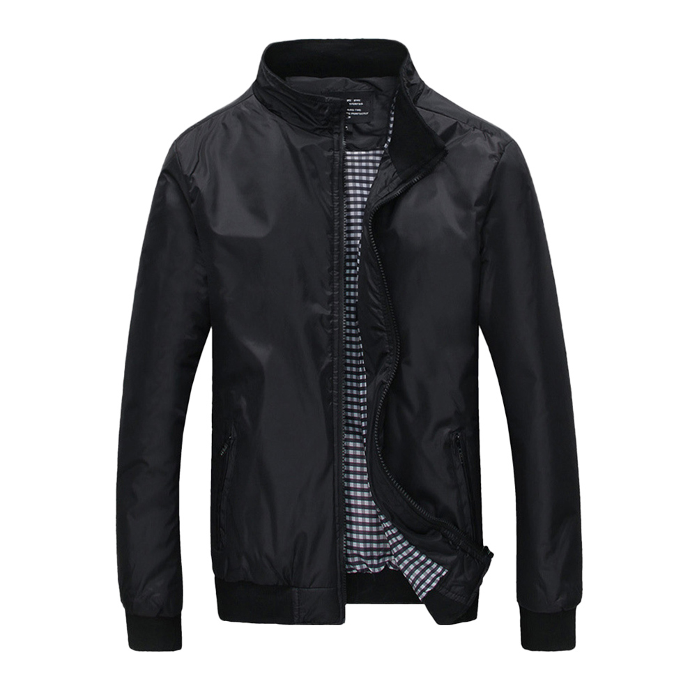 MRMT 2018 Brand Clothing Mens Jacket Solid Color Jackets For Male Stand Collar Wind Jack ...