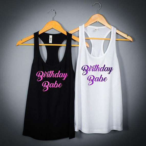 Personalized 21st Birthday Baby Twenty One And Legal Party Womens Tank Tops Tees Bridal Shower T Shirts Favors GIFTS