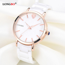 2018 LONGBO Fashion Women Watches Luxury Waterproof Ceramic Quartz Watch Ladies Relojes Mujer Wristwatch Gifts Female 80050