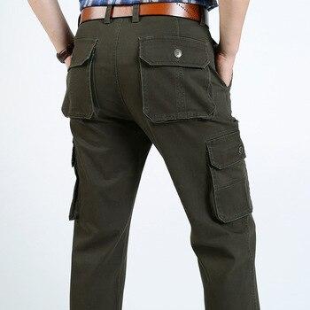 e4aaec582a 2018 marca Moda hombre Militar Pantalones cargo multi-bolsillos baggy hombre  Pantalones casual Pantalones Monos ejército Pantalones joggers 2188
