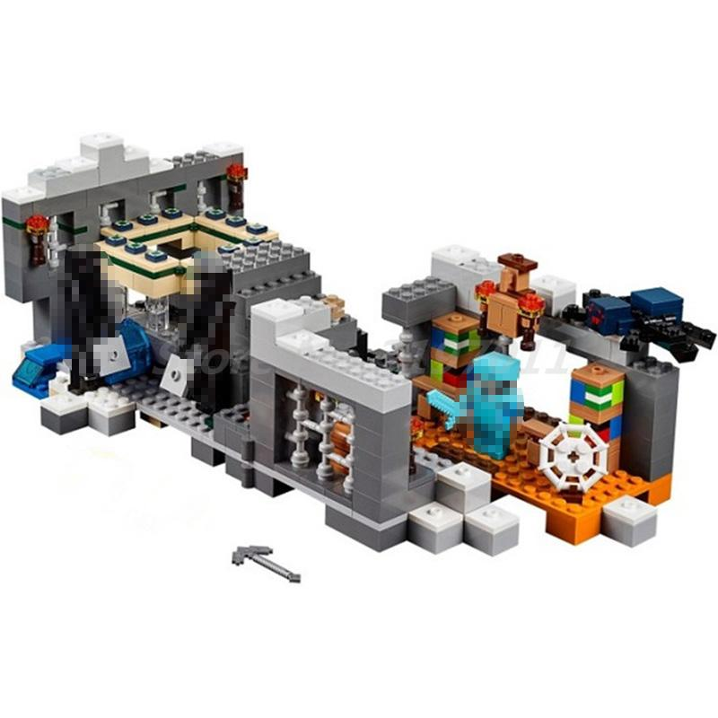 Bela 10470 571pcs My Worlds MineCraft End Portal Figure 21124 Building Blocks Bricks Toys for Children Christmas Gifts авто 21124 за 200 т