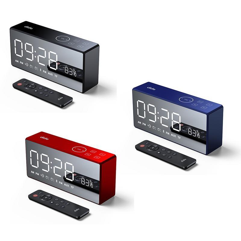 X9 Mini Carte Miroir FM Audio Charge Radio Appel D'alarme Ensemble Télécommande Smart Bluetooth Haut-Parleur Basse Subwoofer