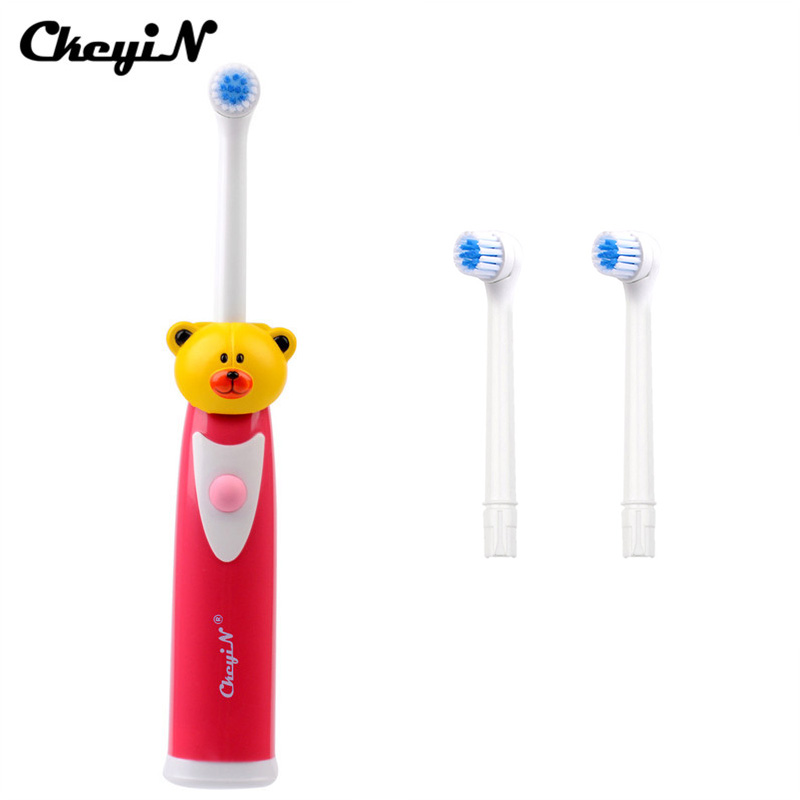 Cartoon Children Ultrasonic Waterproof Tooth Brush Electric Toothbrush for Kids Teeth Care Brush Oral Hygiene + 4 Brush Heads seago rotating anti slip waterproof electric toothbrush with 2 brush heads tooth brush oral hygiene dental care for adult kids